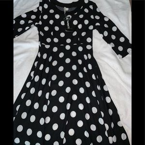 MCQER Alexander McQueen size Lg Dress blk-white